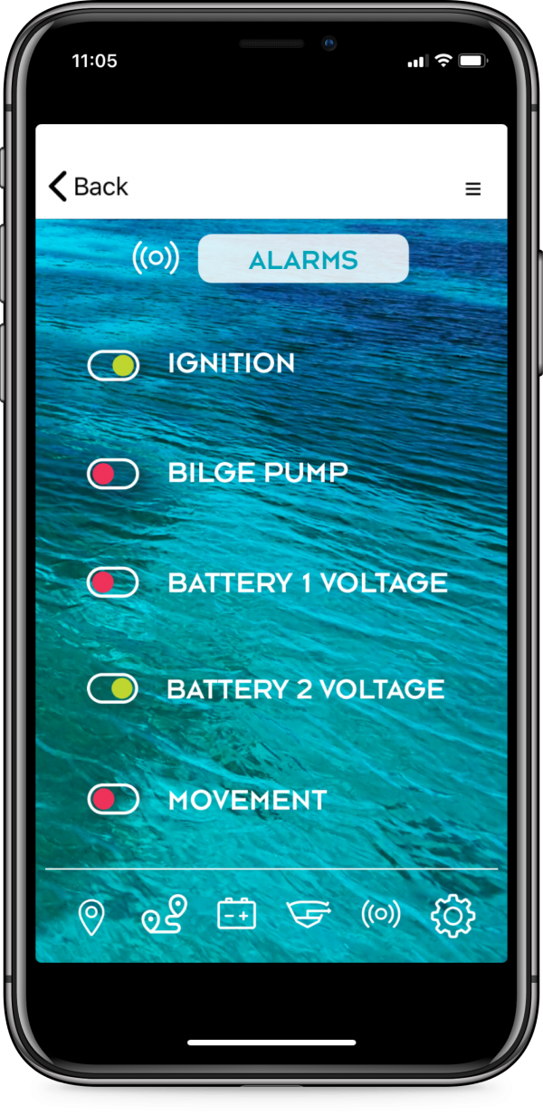 connect-it-boat SmartPhone App Alarme