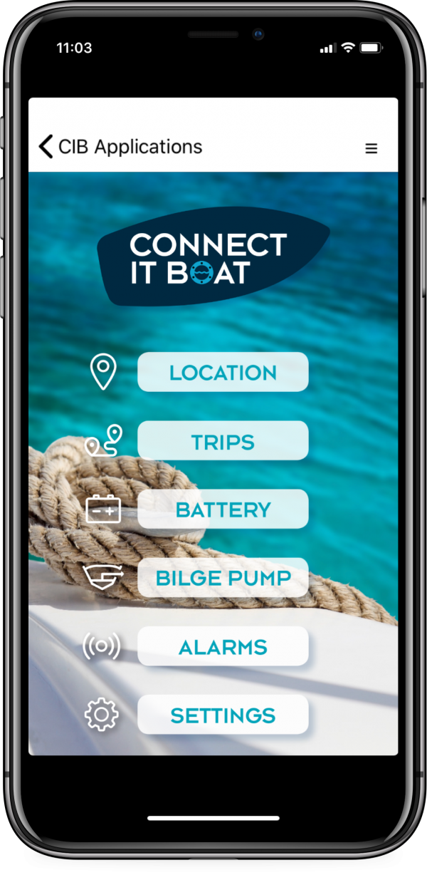 Connect-it-Boat SmartPhone App Startseite