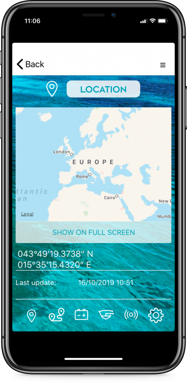 connect-it-boat SmartPhone App Einstellungen